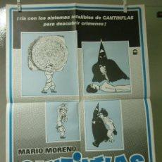 Cine: CARTEL CINE ORIG EL SIGNO DE LA MUERTE (1979) / 50X70 / CANTINFLAS. Lote 56473885