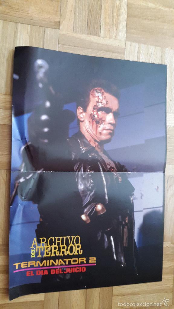 DOBLE POSTER TERMINATOR 2 - A VECES VUELVEN (VER IMÁGEN ADICIONAL Y LEER) (Cine - Posters y Carteles - Terror)