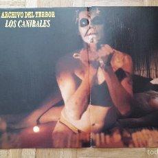 Cine: POSTER CINE TERROR - LOS CANIBALES. Lote 56543639