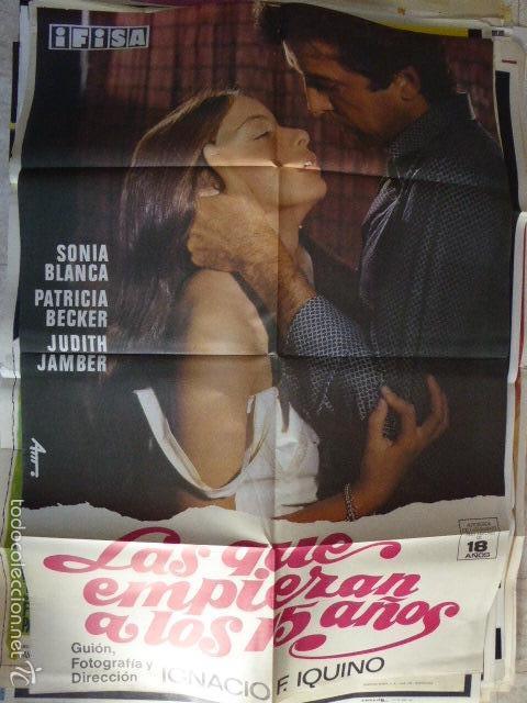 LAS QUE EMPIEZAN A LOS 15. CARTEL DEL CINE- MOVIE POSTER (Cine - Posters y Carteles - Comedia)