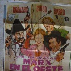 Cine: LOS HERMANOS MARX EN EL OESTE. CARTEL DEL CINE- MOVIE POSTER. Lote 278969273