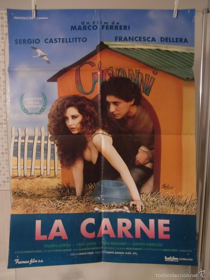 CARTEL CINE ORIG LA CARNE (1991) / 70X100 / FRANCESCA DELLERA (Cine - Posters y Carteles - Comedia)