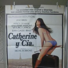 Cine: CARTEL CINE ORIG CATHERINE Y CIA (1978) / 70X100 / JANE BIRKIN. Lote 56664221