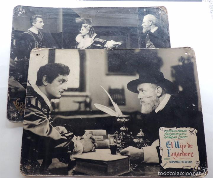 EL HIJO DE LAGARDERE / 2 FOTO CARTON - CARTELERAS / FERNANDO CERCHIO 1952 / CIRE FILMS / ITALIA (Cine - Posters y Carteles - Clasico Español)