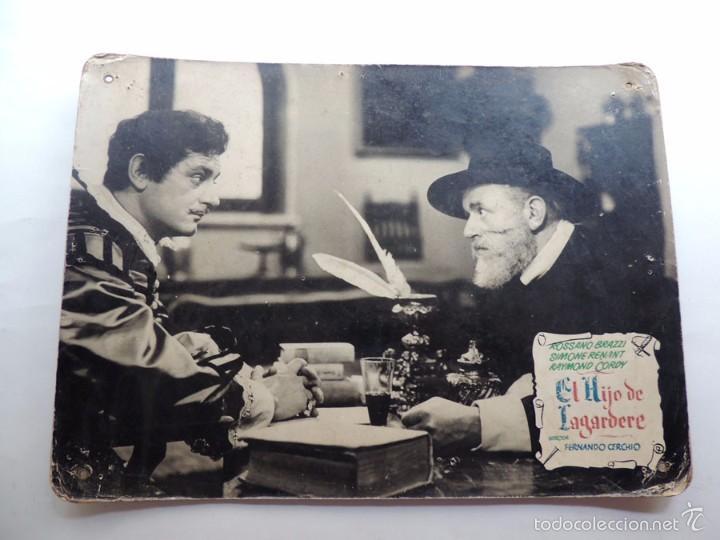 Cine: EL HIJO DE LAGARDERE / 2 FOTO CARTON - CARTELERAS / FERNANDO CERCHIO 1952 / CIRE FILMS / ITALIA - Foto 2 - 56725135