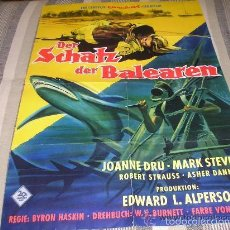 Cine: EL TESORO DE LAS BALEARES DER SCHATZ DER BALEAREN 1961 SUBMARINISMO TIBURON JOANNE DRU CENTURY FOX. Lote 56850145