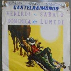 Cine: WU63 LE LLAMABAN TRINIDAD TERENCE HILL BUD SPENCER SPAGHETTI WESTERN POSTER ORIGINAL 33X70 ITALIANO. Lote 56962827
