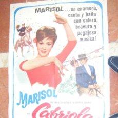 Cine: MARISOL CARTEL DEL FILM CABRIOLA 68 X 105 CTMS.. Lote 56965448