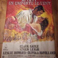 Cine: CARTEL GIGANTE LO QUE EL VIENTO SE LLEVO, 115X158 CMS. Lote 56970494
