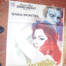 Cine: SARITA MONTIEL CARTEL ESPAÑOL DEL FILM LA MUJER PERDIDA 70 X 100 CTMS.. Lote 56996661