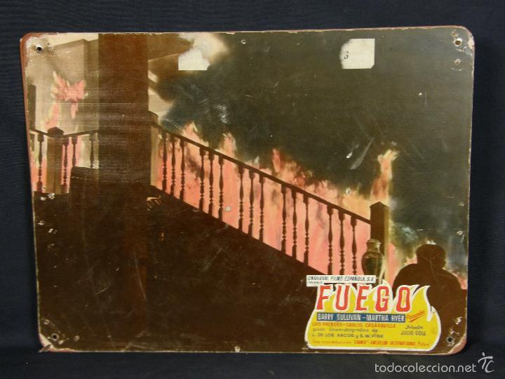CARTELERA CINE LOBBY CARD FUEGO SULLYVAN HYER PRENDES 39X29CMS (Cine - Posters y Carteles - Clasico Español)