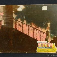 Cine: CARTELERA CINE LOBBY CARD FUEGO SULLYVAN HYER PRENDES 39X29CMS. Lote 57092845