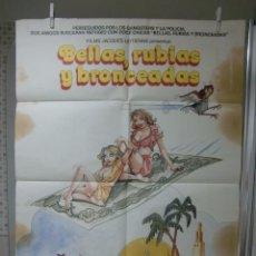 Cine: CARTEL CINE ORIG BELLAS RUBIAS Y BRONCEADAS (1982) / 70X100 / SYLVIA AGUILAR. Lote 57137220