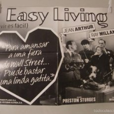 Cine: CARTEL CINE ORIG EASY LIVING / VIVIR ES FACIL / 48X68 /. Lote 57137836