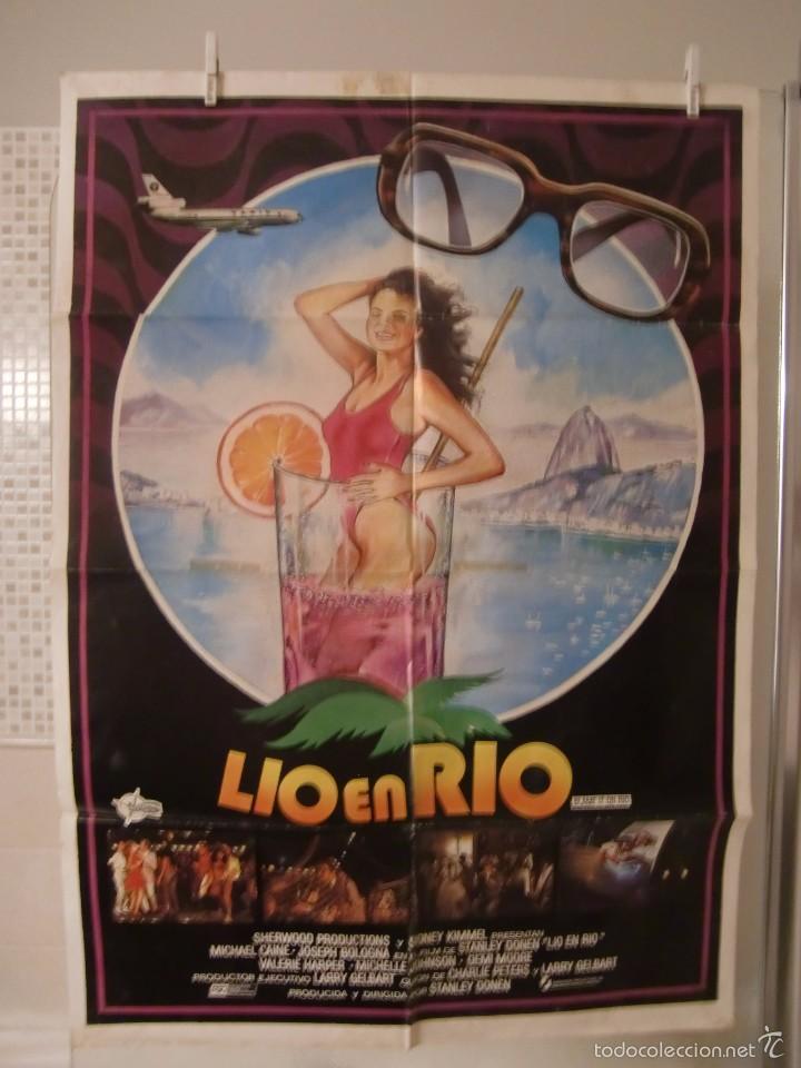 CARTEL CINE ORIG LIO EN RIO (1984) / 70X100 / MICHAEL CAINE (Cine - Posters y Carteles - Comedia)