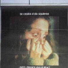 Cine: ANTIGUO CARTEL DE CINE 70 X 100 CM. SABE QUE ESTÁS SOLA - 1980. Lote 57159718