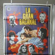 Cine: CARTEL CINE ORIG LA GRAN BACANAL / 70X100 / VIRNA LISI / NINO MANFREDI. Lote 57288750