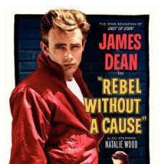 Cine: REBELDE SIN CAUSA (REBEL WITHOUT A CAUSE). JAMES DEAN. LÁMINA CARTEL 45 X 32 CMS.. Lote 57331096