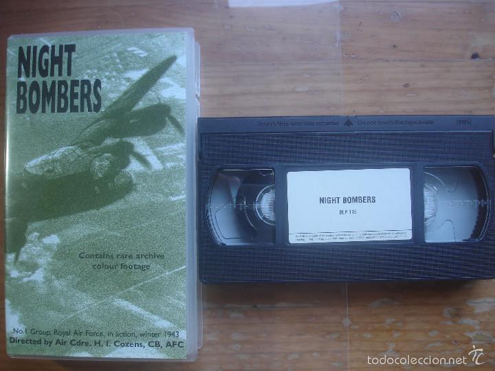 VHS NIGHT BOMBERS.AVIACIÓN (Cine - Posters y Carteles - Documentales)