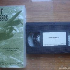 Cine: VHS NIGHT BOMBERS.AVIACIÓN. Lote 57344532
