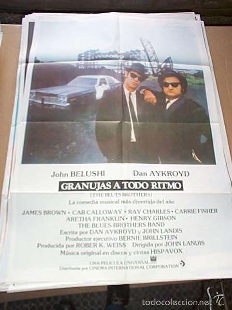 Cine: The Blues Brothers GraNujas a todo Ritmo. Poster original de 70x100cm. - Foto 1 - 62691650