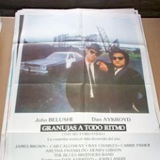 Cine: THE BLUES BROTHERS GRANUJAS A TODO RITMO. POSTER ORIGINAL DE 70X100CM.. Lote 62691650