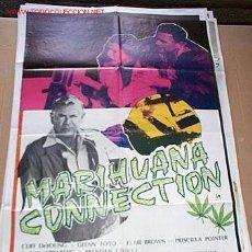 Cine: MARIHUNA CONECTION DE GLEN FORD POSTER ORIGINAL DE 70X100CM. Lote 57395931