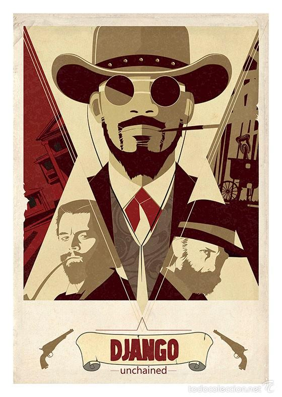 DJANGO UNCHAINED. QUENTIN TARANTINO. LÁMINA CARTEL 45 X 32 CMS. (Cine - Posters y Carteles - Westerns)