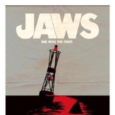 Cine: TIBURÓN. JAWS. LÁMINA CARTEL. SPIELBERG. 45 X 32 CMS. Lote 218159213