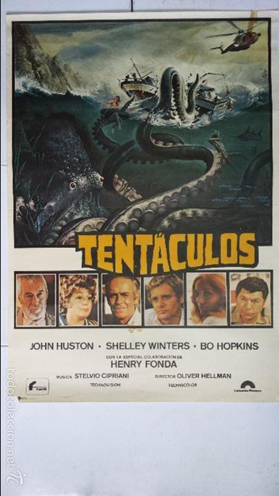ANTIGUO Y ORIGINAL CARTEL DE CINE 70 X 100 CM. TENTÁCULOS - 1977 (Cine - Posters y Carteles - Terror)