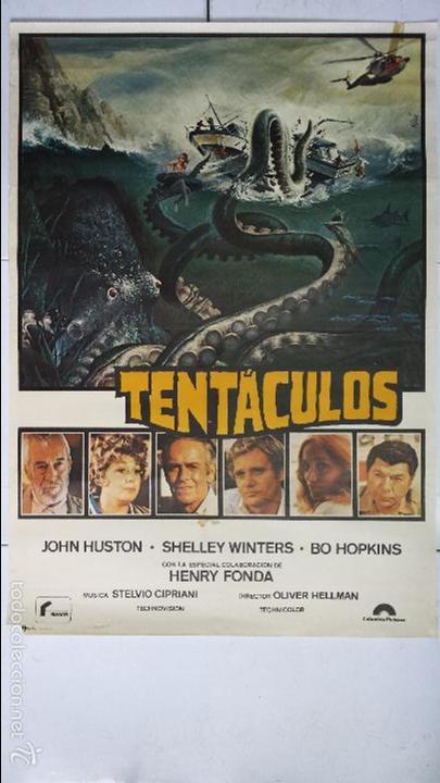 Cine: ANTIGUO Y ORIGINAL CARTEL DE CINE 70 X 100 CM. TENTÁCULOS - 1977 - Foto 2 - 57497913
