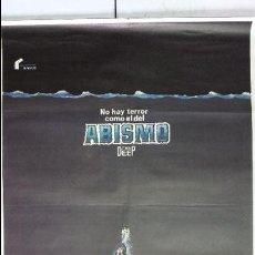Cine: ANTIGUO Y ORIGINAL CARTEL DE CINE 70 X 100 CM. ABISMO - 1977. Lote 57497989
