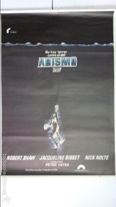 Cine: ANTIGUO Y ORIGINAL CARTEL DE CINE 70 X 100 CM. ABISMO - 1977 - Foto 2 - 57497989