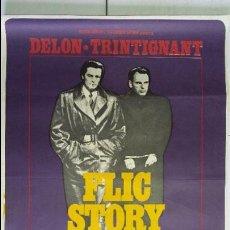 Cine: ANTIGUO Y ORIGINAL CARTEL DE CINE 70 X 100 CM. FLIC STORY - 1976. Lote 57518790