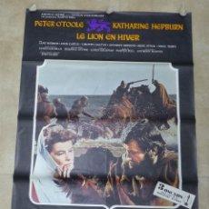 Cine: LE LION EN HIVER, EL LEON EN INVIERNO - KATHARINE HEPBURN, PETER O'TOOLE - CARTEL GRANDE FRANCES. Lote 57566808