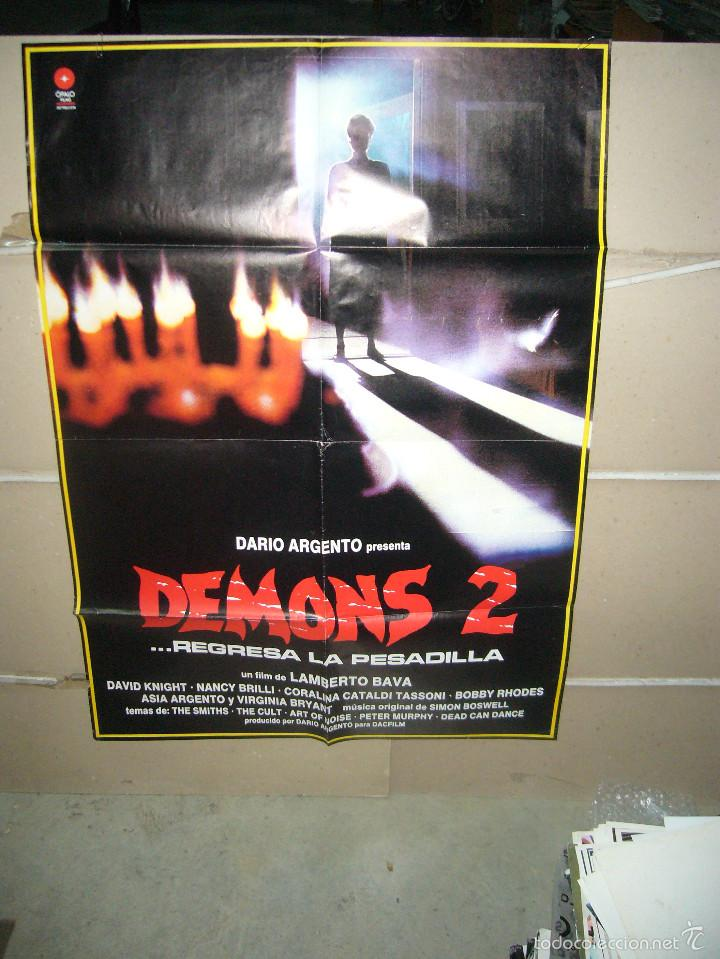 DEMONS 2 LAMBERTO BAVA DARIO ARGENTO POSTER ORIGINAL 70X100 Q (Cine - Posters y Carteles - Terror)