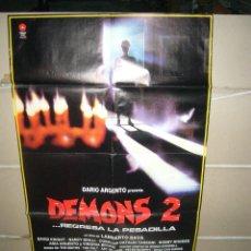 Cine: DEMONS 2 LAMBERTO BAVA DARIO ARGENTO POSTER ORIGINAL 70X100 Q. Lote 57576521