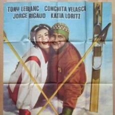 Cine: CARTEL CINE, AMOR BAJO CERO, CONCHITA VELASCO, TONY LEBLANC, 1960 , CD10. Lote 57590101