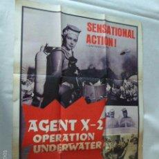 Cine: AGENT X-2. OPERATION UNDERWEAR. MOVIE POSTER - CARTEL DE CINE . Lote 57614588