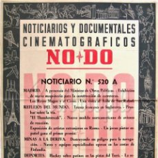Cine: CARTEL DEL NOTICIARIO DOCUMENTAL NODO Nº 520 A (VER LOS ACONTECIMIENTOS) ORIGINAL. Lote 57619177