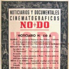 Cine: CARTEL DEL NOTICIARIO DOCUMENTAL NODO Nº 520 A (VER LOS ACONTECIMIENTOS) ORIGINAL. Lote 57619177