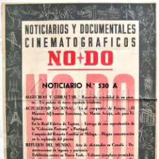 Cine: CARTEL DEL NOTICIARIO DOCUMENTAL NODO Nº 530 A (VER LOS ACONTECIMIENTOS) ORIGINAL. Lote 57619212