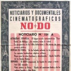 Cine: CARTEL DEL NOTICIARIO DOCUMENTAL NODO Nº 531 A (VER LOS ACONTECIMIENTOS) ORIGINAL. Lote 57619218