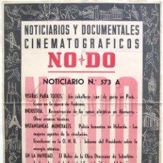Cine: CARTEL DEL NOTICIARIO DOCUMENTAL NODO Nº 573 A (VER LOS ACONTECIMIENTOS) ORIGINAL. Lote 57619271