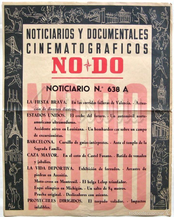 CARTEL DEL NOTICIARIO DOCUMENTAL NODO Nº 638 A (VER LOS ACONTECIMIENTOS) ORIGINAL (Cine - Posters y Carteles - Documentales)
