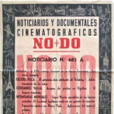 Cine: CARTEL DEL NOTICIARIO DOCUMENTAL NODO Nº 682 A (VER LOS ACONTECIMIENTOS) ORIGINAL. Lote 57619386