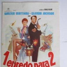 Cine: CARTEL DE CINE ''1 ENREDO PARA 2'' 1980 WALTER MATTAHAU Y GLENDA JACKSON// USA 20X30CM. Lote 57628085