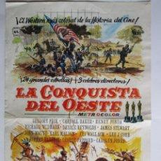 Cine: CARTEL DE CINE ''LA CONQUISTA DE OESTE'' 1962 DIR. JOHN FORD// USA 20X30CM. Lote 57628671