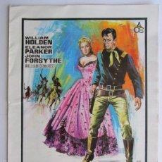 Cine: CARTEL DE CINE ''FORT BRAVO'' 1953 DIR. JOHN STURGES // USA 20X30CM. Lote 57628967