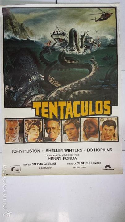 (2) ANTIGUO Y ORIGINAL CARTEL DE CINE 70 X 100 CM. TENTÁCULOS - 1977 (Cine - Posters y Carteles - Terror)